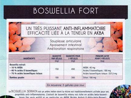 Boswellia : anti inflamatoire